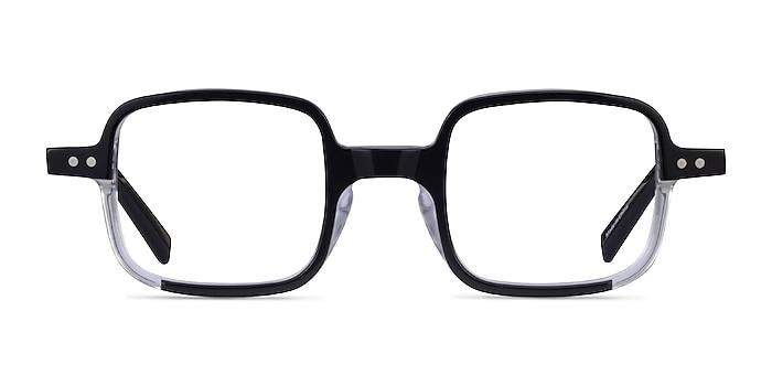 Montrose Black Clear Acetate Eyeglass Frames from EyeBuyDirect