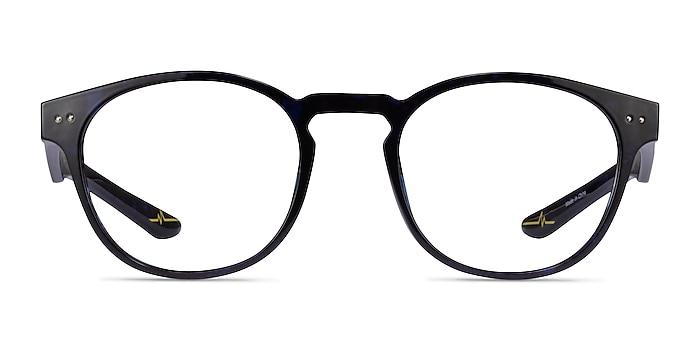 Trinity Blue Tortoise Plastic Eyeglass Frames from EyeBuyDirect