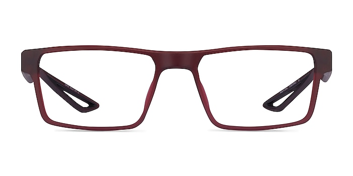 Icarus Matte Red Plastic Eyeglass Frames from EyeBuyDirect