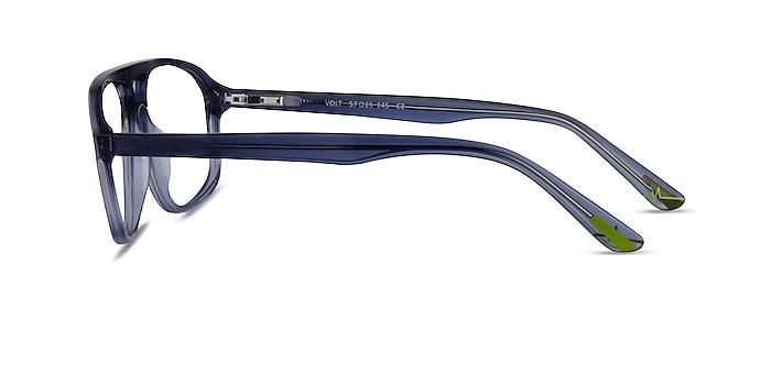 Volt Clear Blue Acetate Eyeglass Frames from EyeBuyDirect