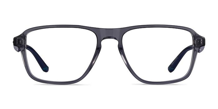Euclid Clear Gray Plastic Eyeglass Frames from EyeBuyDirect