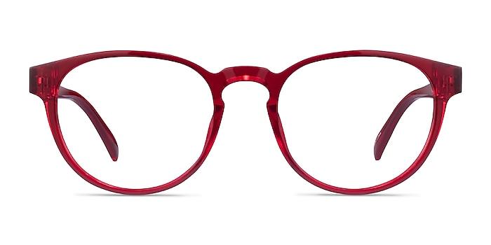 Hawthorne Clear Red Plastic Eyeglass Frames from EyeBuyDirect