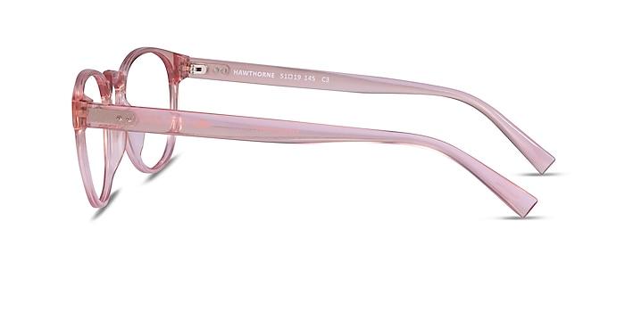 Hawthorne Clear Nude Plastic Eyeglass Frames from EyeBuyDirect