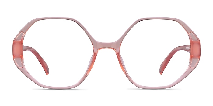 Cypress Clear Nude Plastic Eyeglass Frames from EyeBuyDirect