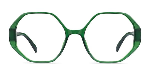 Cypress Clear Green Plastic Eyeglass Frames