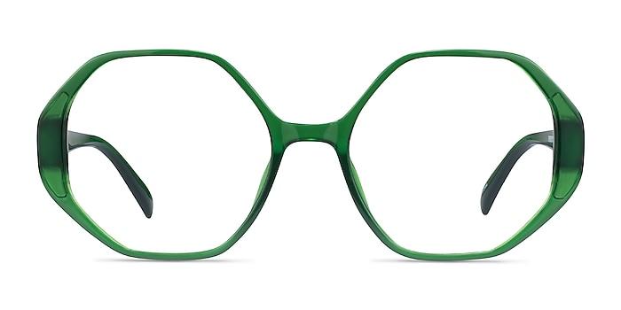 Cypress Clear Green Plastic Eyeglass Frames from EyeBuyDirect
