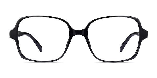 Poplar Black Plastic Eyeglass Frames