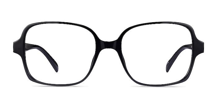 Poplar Black Plastic Eyeglass Frames from EyeBuyDirect