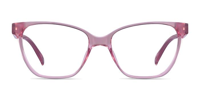 Almond Clear Pink Plastic Eyeglass Frames from EyeBuyDirect