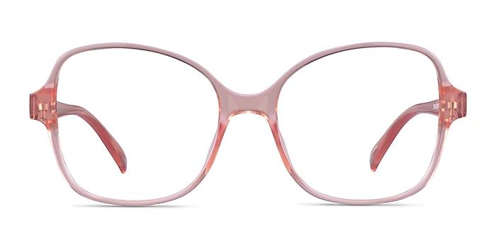 Arolla Clear Nude Plastic Eyeglass Frames from EyeBuyDirect