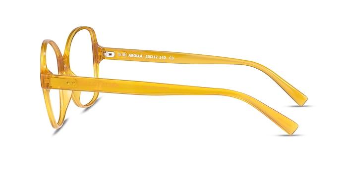 Arolla Clear Yellow Plastic Eyeglass Frames from EyeBuyDirect