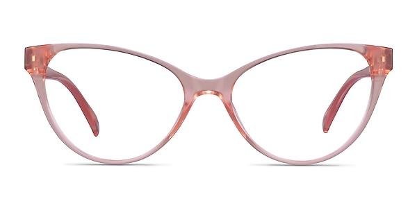 Lantana Clear Nude Plastic Eyeglass Frames