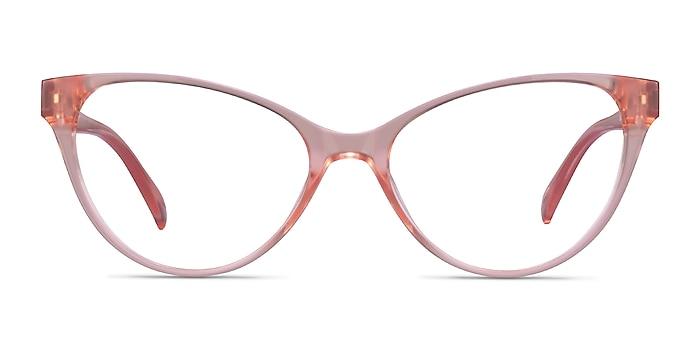Lantana Clear Nude Plastic Eyeglass Frames from EyeBuyDirect