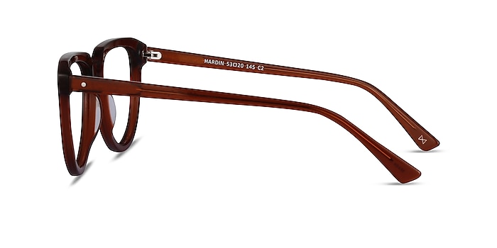 Hardin Clear Brown Acétate Montures de lunettes de vue d'EyeBuyDirect