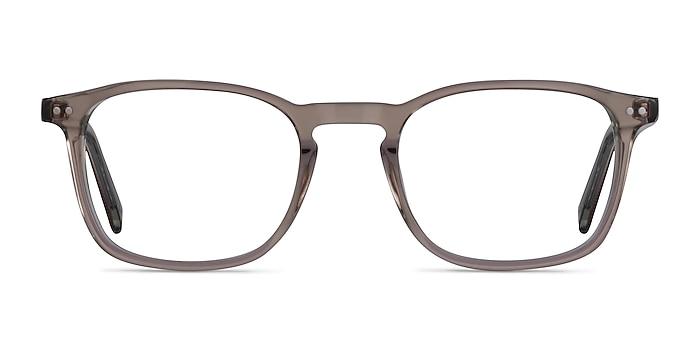 Holley Clear Brown Acétate Montures de lunettes de vue d'EyeBuyDirect