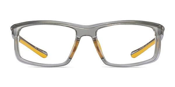 Drill Clear Gray Yellow Plastique Montures de lunettes de vue