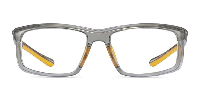 Drill Clear Gray Yellow Plastique Montures de lunettes de vue d'EyeBuyDirect