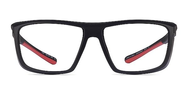 Cast Black Red Plastic Eyeglass Frames