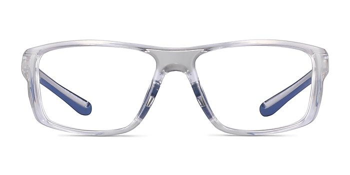 Buff Clear Blue Plastic Eyeglass Frames from EyeBuyDirect