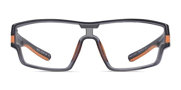 Weld Clear Gray Orange Plastique Montures de lunettes de vue