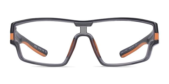 Weld Clear Gray Orange Plastique Montures de lunettes de vue d'EyeBuyDirect