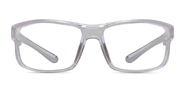 Molten Clear Gray Plastic Eyeglass Frames