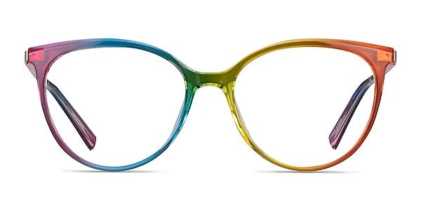 Positivity Rainbow Plastic Eyeglass Frames