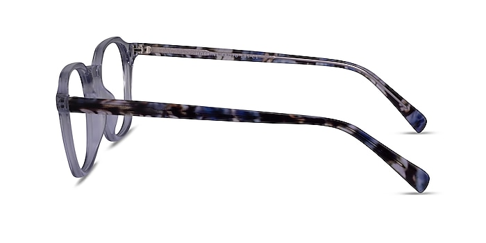 Hopkins Clear Purple Floral Acetate Eyeglass Frames from EyeBuyDirect