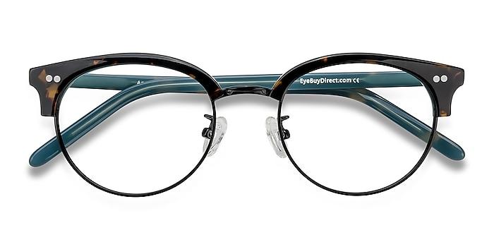 Tortoise Annabel -  Vintage Acetate, Metal Eyeglasses