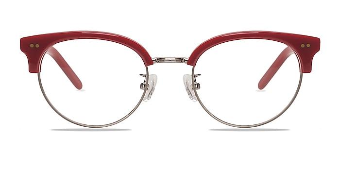 Annabel Red Acetate-metal Eyeglass Frames from EyeBuyDirect