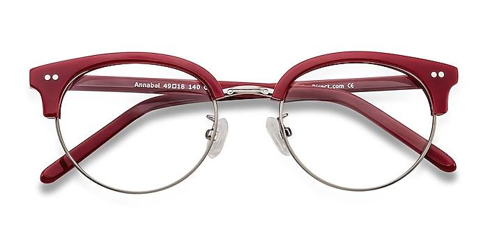 Red Annabel -  Vintage Acetate, Metal Eyeglasses