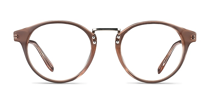 Get Lucky Brown/Silver Acetate-metal Eyeglass Frames from EyeBuyDirect