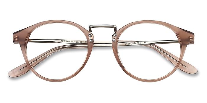 Brown/Silver Get Lucky -  Fashion Acetate, Metal Eyeglasses
