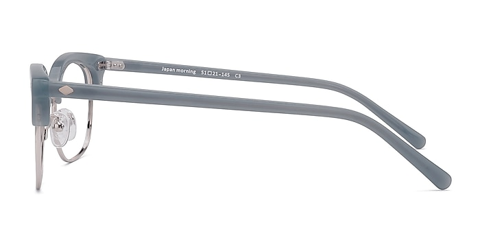 Japan Morning  Blue  Acetate-metal Eyeglass Frames from EyeBuyDirect
