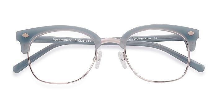 Blue  Japan Morning -  Vintage Acetate, Metal Eyeglasses