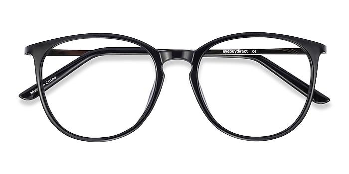 Black Naomi -  Lightweight Plastic, Metal Eyeglasses