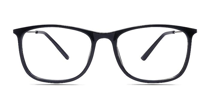 Hurricane Black Plastic Eyeglass Frames from EyeBuyDirect