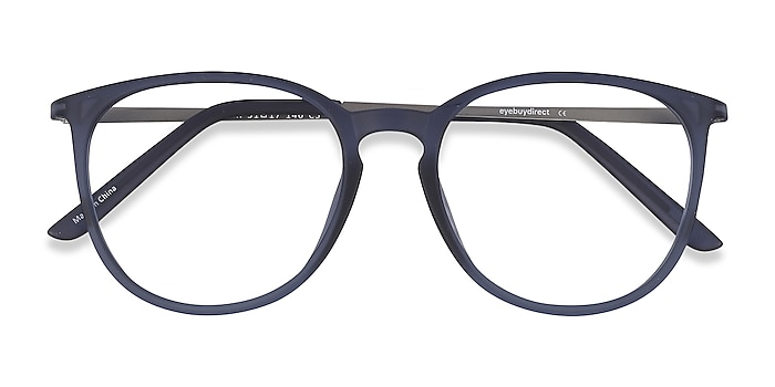 Matte Blue Naomi -  Lightweight Plastic Eyeglasses