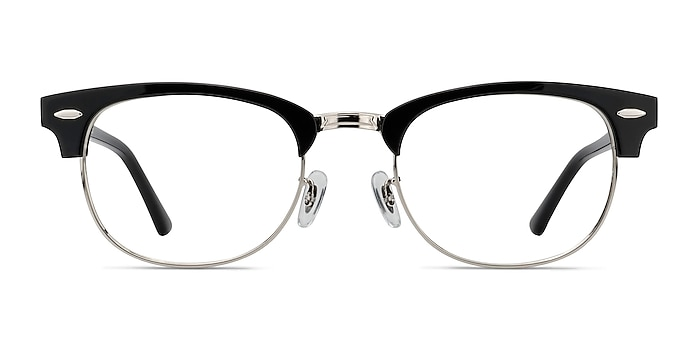 Sweet Janet Black Silver Acetate-metal Eyeglass Frames from EyeBuyDirect
