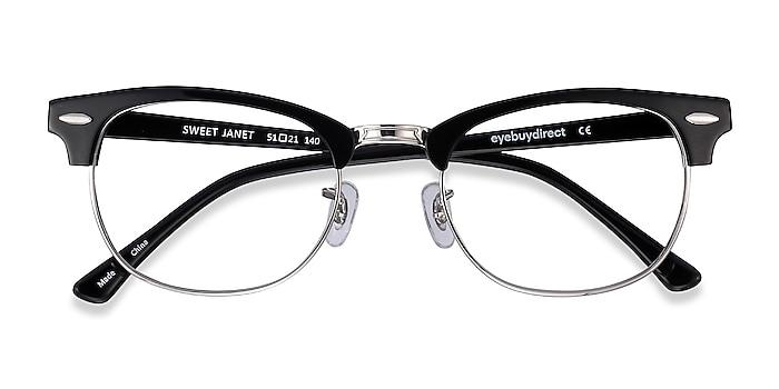 Black Silver Sweet Janet -  Fashion Acetate, Metal Eyeglasses