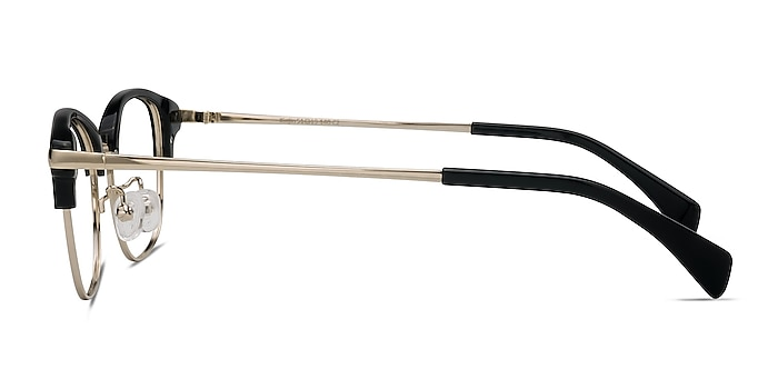 Kinjin Black Acetate-metal Eyeglass Frames from EyeBuyDirect