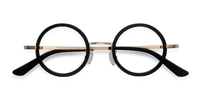 Black Roaring -  Vintage Acetate, Metal Eyeglasses