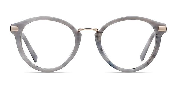 Yuke Light Gray Acetate-metal Eyeglass Frames