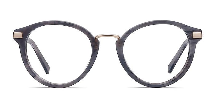 Yuke Dark Gray Acetate-metal Eyeglass Frames from EyeBuyDirect