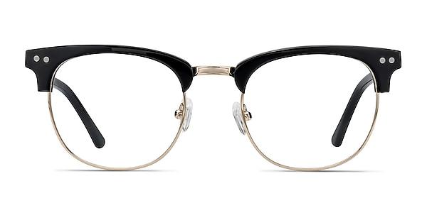 Borderline Black Acetate-metal Eyeglass Frames