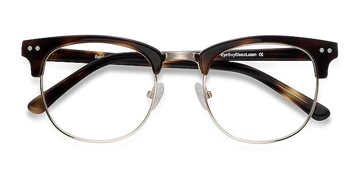 Tortoise Borderline -  Vintage Acetate, Metal Eyeglasses