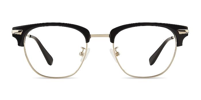 Identity Noir Acetate-metal Montures de lunettes de vue d'EyeBuyDirect