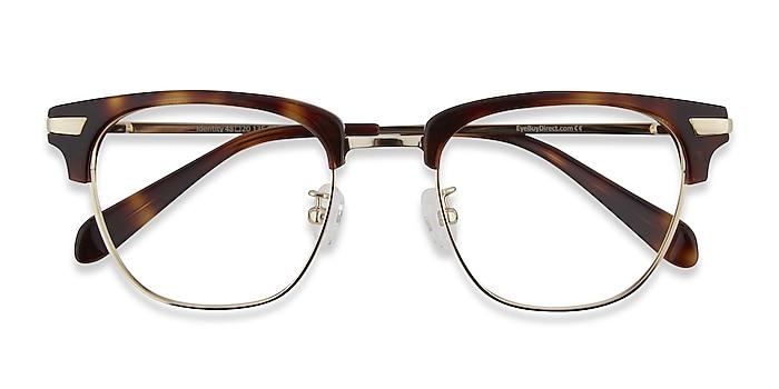 Tortoise Identity -  Vintage Acetate, Metal Eyeglasses