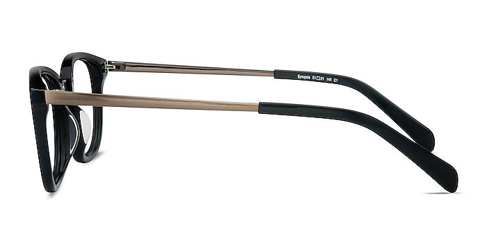 Synopsis Black Acetate-metal Eyeglass Frames from EyeBuyDirect