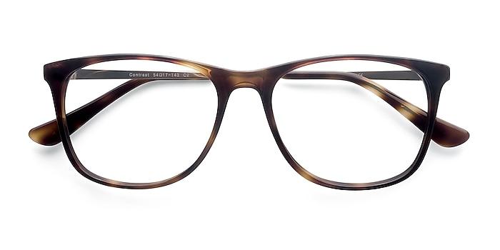 Tortoise Contrast -  Fashion Acetate, Metal Eyeglasses